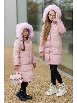 Зимова куртка на дівчинку 8 9 10 11 12 13 14 років