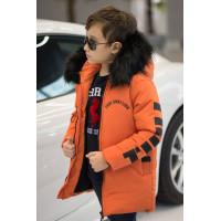 Теплая детская зимняя куртка для мальчика