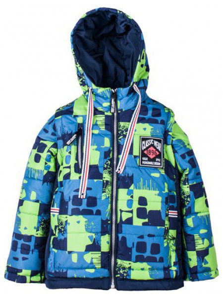 Детская куртка со съемными рукавами для мальчика