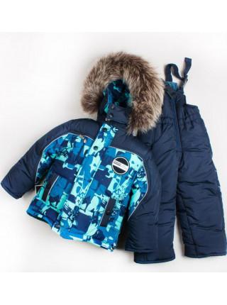 Зимовий костюм комбінезон для хлопчика