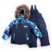 Зимний детский костюм на овчине для мальчика