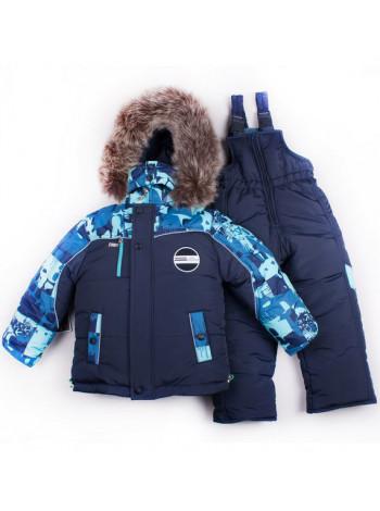 Зимовий дитячий костюм на овчині для хлопчика