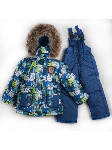 Утепленный зимний костюм на мальчика