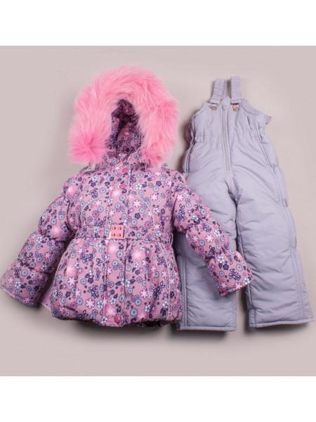 Рожевий зимовий костюм комбінезондля дівчинки