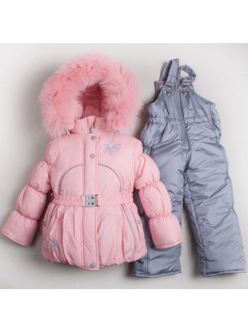 Модный детский костюм для зимы на девочку