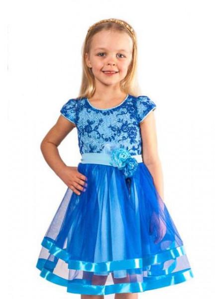 Випускне плаття на дівчинку з пишною юбкою
