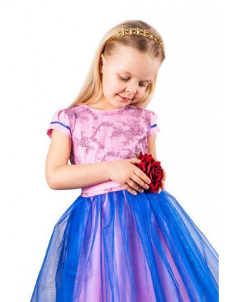 Детское выпускное платье с фатиновой юбкой