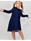 Детское нарядное гипюровое платье с рукавом