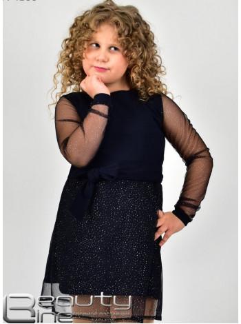 Красивое короткое детское платье с рукавом