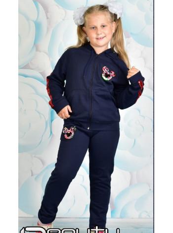 Спортивный костюм для девочки с капюшоном