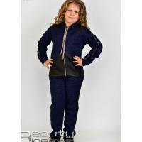 Детский стильный костюм спортивный с нашивкой