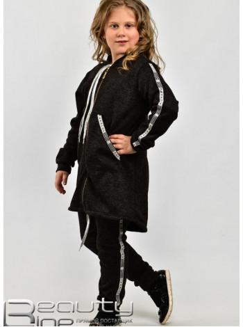 Спортивний костюм для дівчаток із паєтками