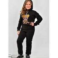 Спортивний трикотажний костюм для дівчинки на флісі