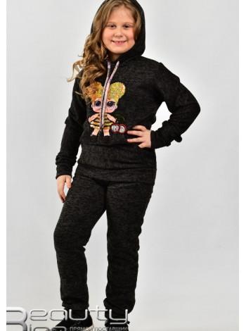 Спортивный трикотажный костюм для девочки на флисе