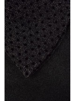 Нарядное черное платье с рукавом для девочки
