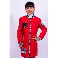 Подовжена дитяча куртка бомбер для дівчинки