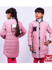 Удлиненная детская куртка бомбер для девочки