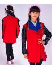 Детский кардиган с кожаными вставками