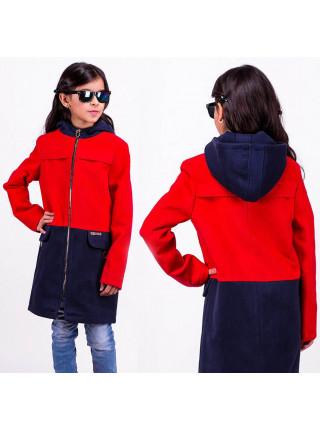 Пальто с капюшоном для девочки