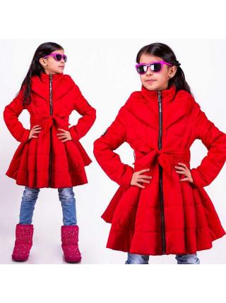 Детская куртка с пышным низом
