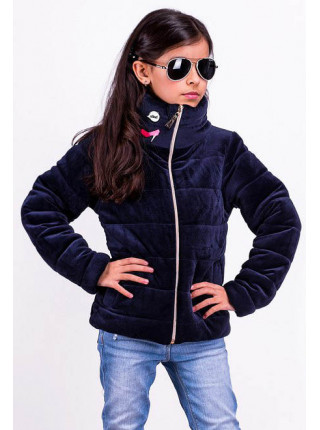 Велюрова куртка для дівчинки