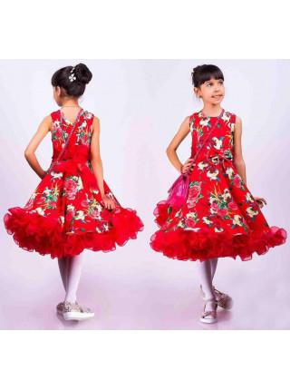 Пишне бальне плаття в квіточку