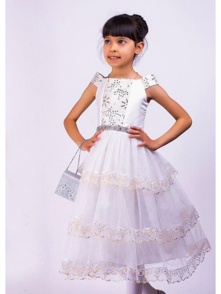 Біле бальне плаття для дівчинки