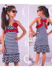 Летнее платье в полоску для девочки