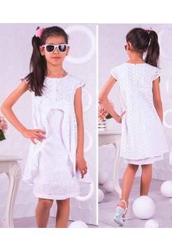 Дитяче біле плаття на літо