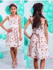 Дитяче літнє плаття в квіточку