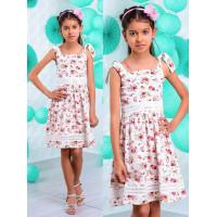 Детское летнее платье в цветочек