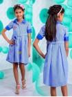 Летнее платье рубашка для девочки