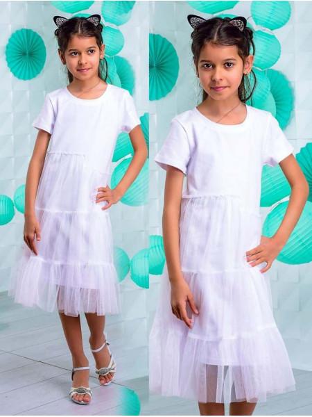 Красиве літнє плаття з фатином дитяче