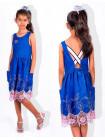 Детское джинсовое платье с открытой спиной
