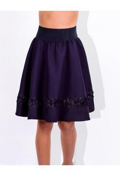 Школьная юбка на резинке в складку