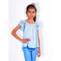 Детская блузка с воланами на плечах