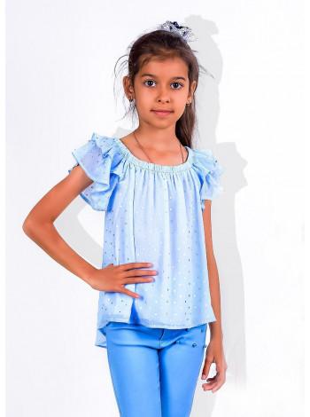 Дитяча блузка з воланами на плечах