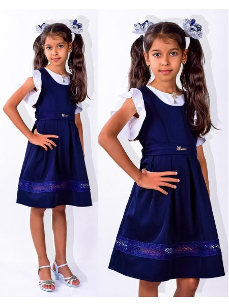 Шкільний дитячий сарафан для дівчинки