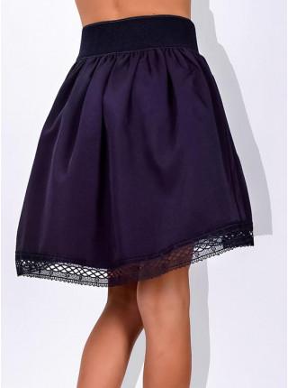 Детская школьная юбка на резинке