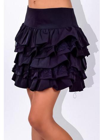 Нарядная школьная детская юбка с воланами