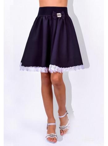 Детская школьная юбка пышная в складку