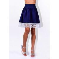 Синяя школьная юбка для девочки