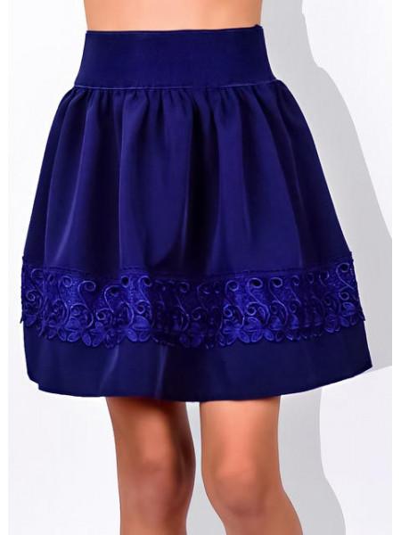 Детская юбка на резинке для школы