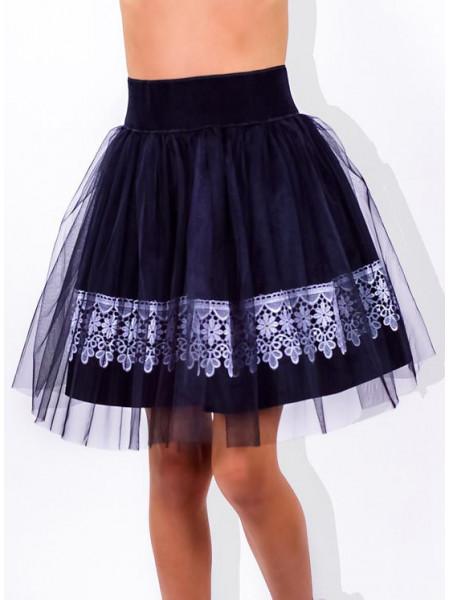 Школьная юбка детская из фатина