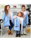 Зимняя детская парка с мехом для девочки