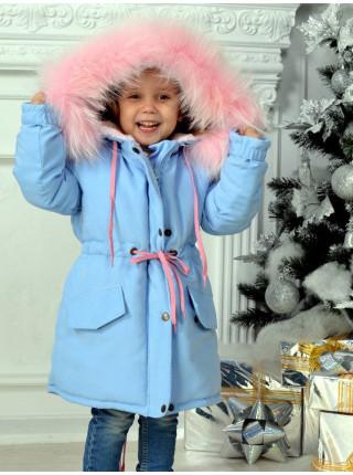 Зимова дитяча парка з хутром для дівчинки
