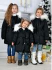 Зимова парка для дівчинки чорного кольору