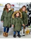 Зеленая детская парка зима