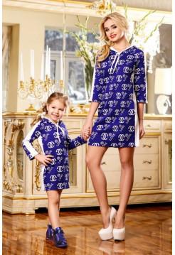 Детское платье туника с капюшоном