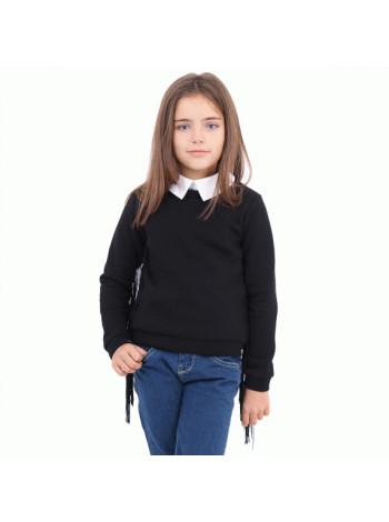 Детская кофта с белым воротником